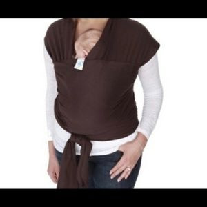 Chocolate brown MOBY wrap for baby
